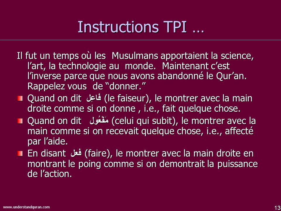 Instructions TPI …