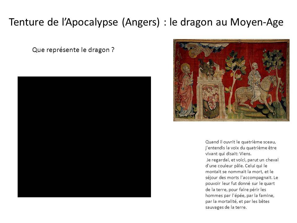 Tenture de l'Apocalypse (Angers) : le dragon au Moyen-Age