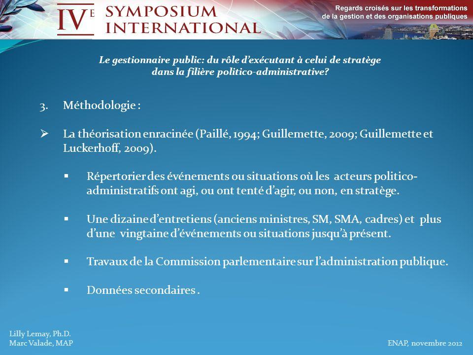 Travaux de la Commission parlementaire sur l'administration publique.
