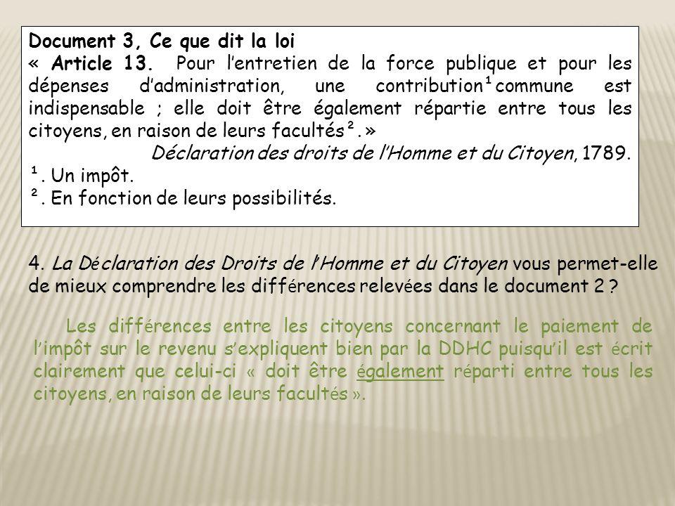 Document 3, Ce que dit la loi