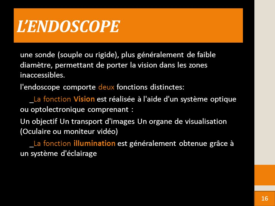 L'ENDOSCOPE