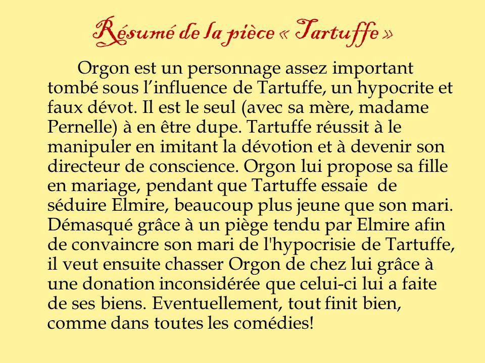 Résumé de la pièce « Tartuffe »