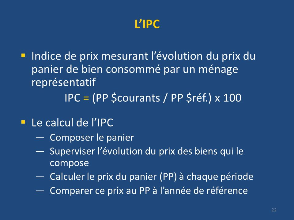 IPC = (PP $courants / PP $réf.) x 100