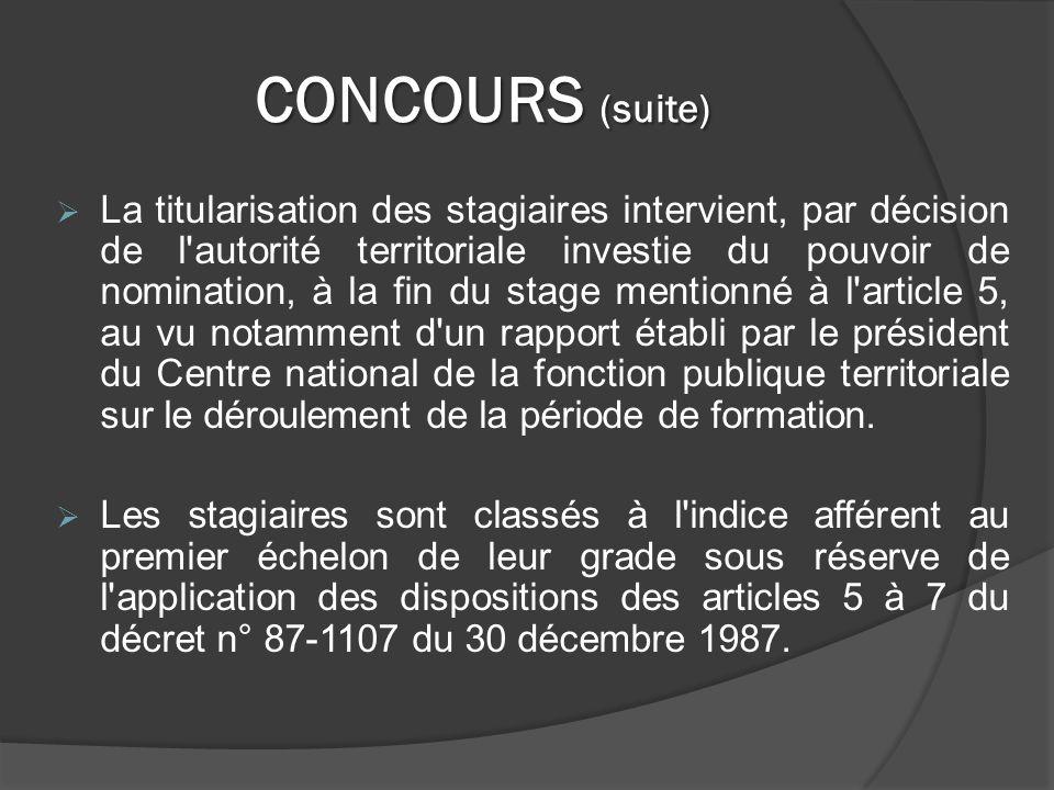 CONCOURS (suite)