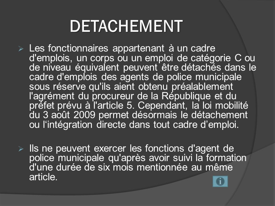DETACHEMENT