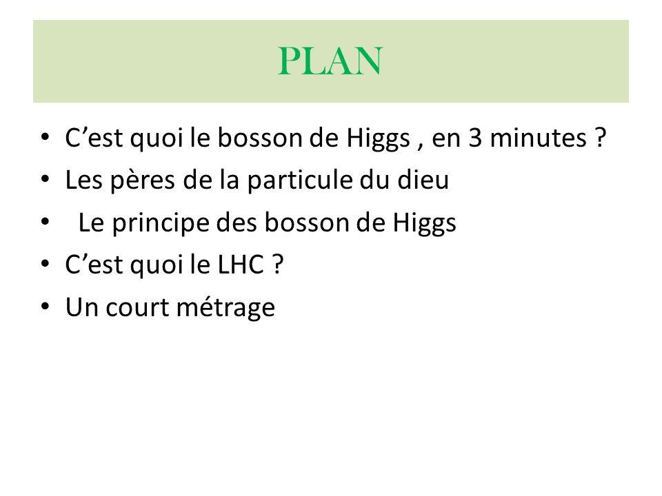 PLAN C'est quoi le bosson de Higgs , en 3 minutes
