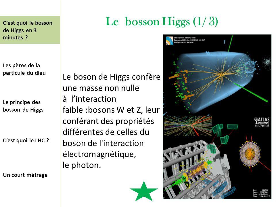 Le bosson Higgs (1/ 3) C'est quoi le bosson de Higgs en 3 minutes