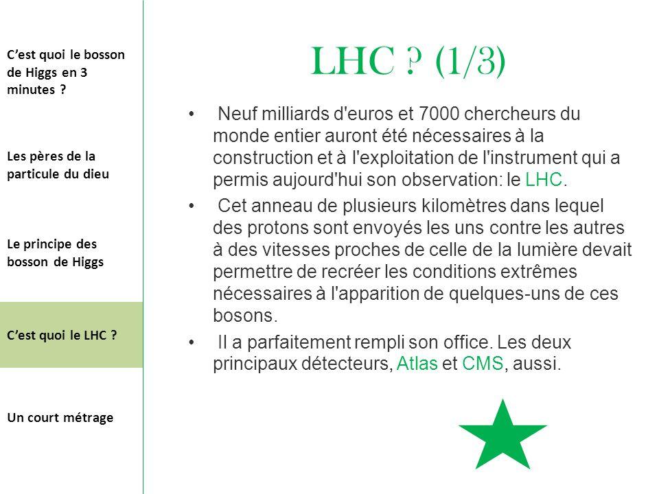 LHC (1/3) C'est quoi le bosson de Higgs en 3 minutes
