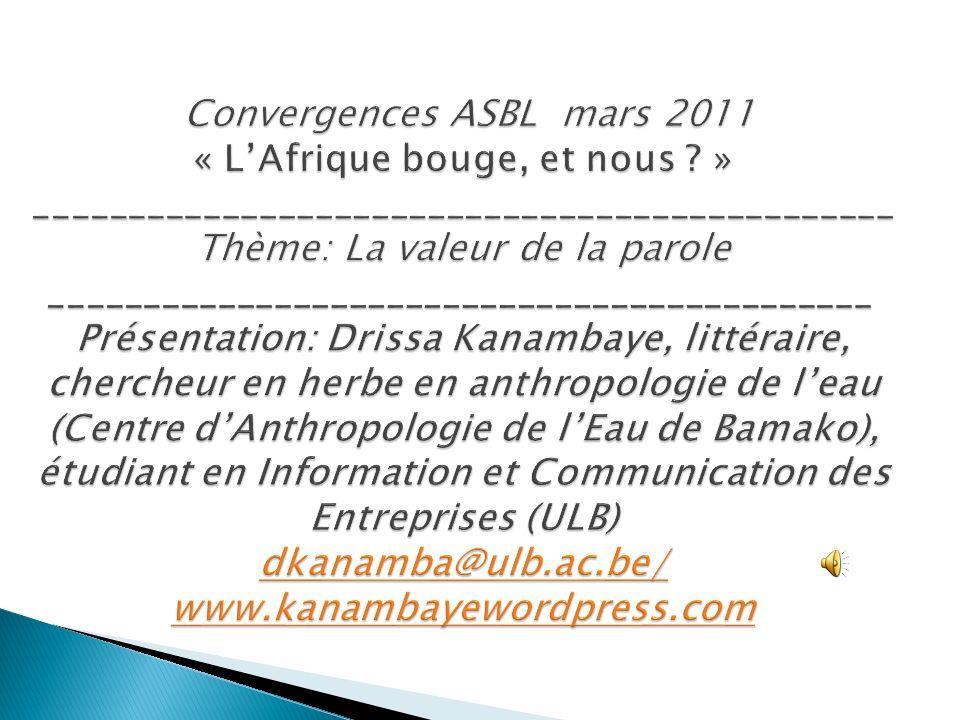 Convergences ASBL mars 2011 « L'Afrique bouge, et nous