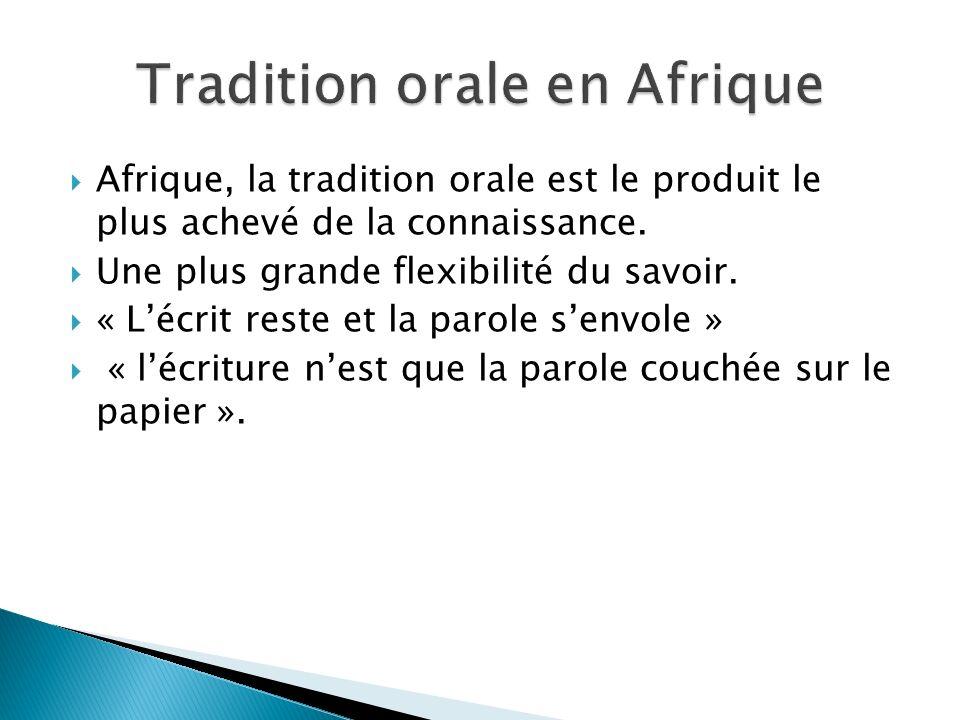 Tradition orale en Afrique