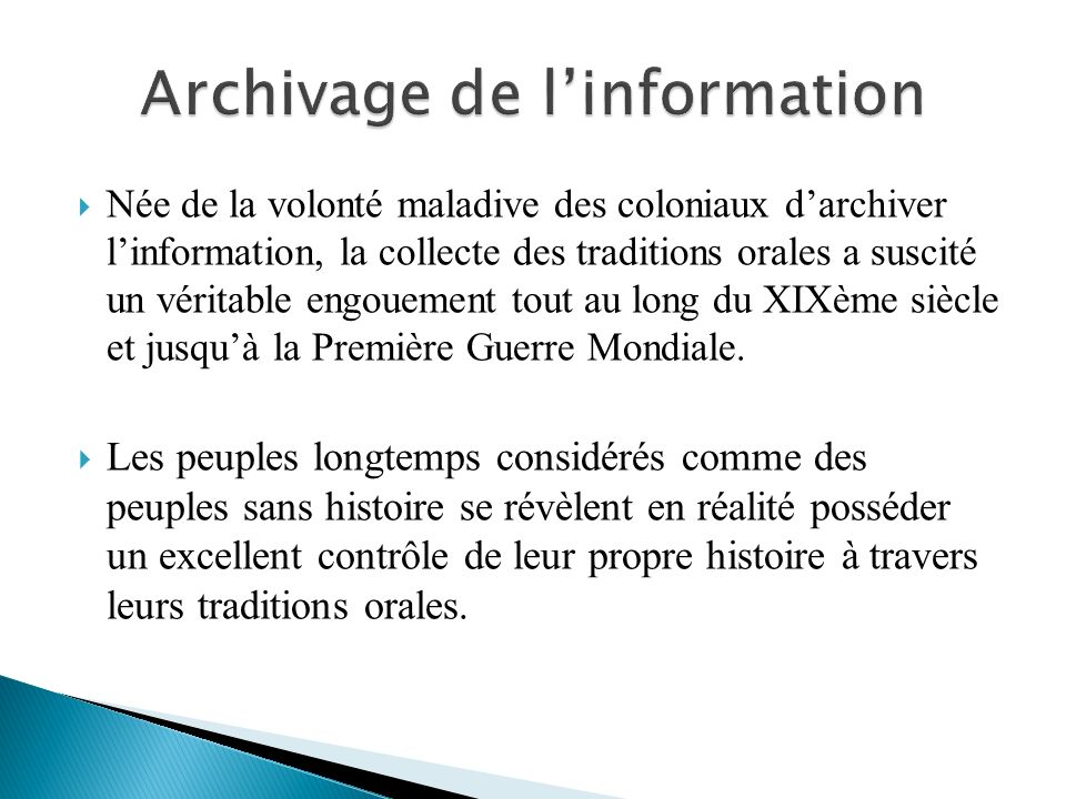 Archivage de l'information