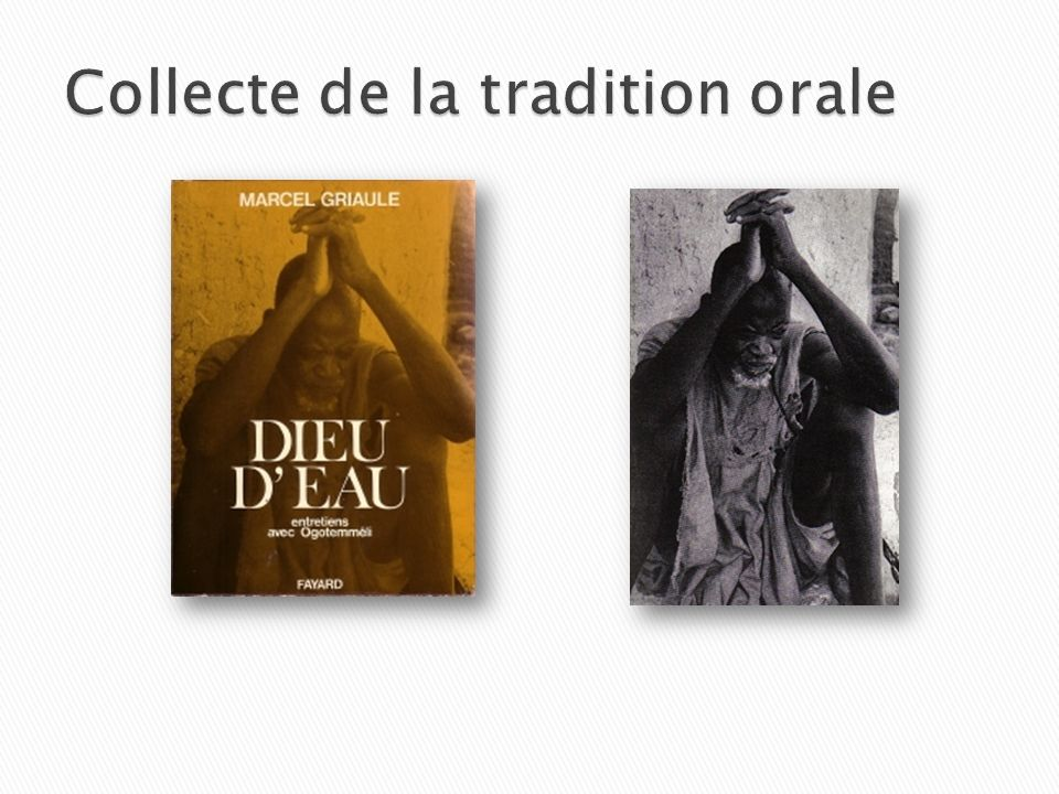 Collecte de la tradition orale