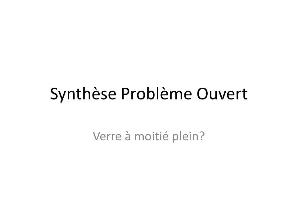 Synthèse Problème Ouvert