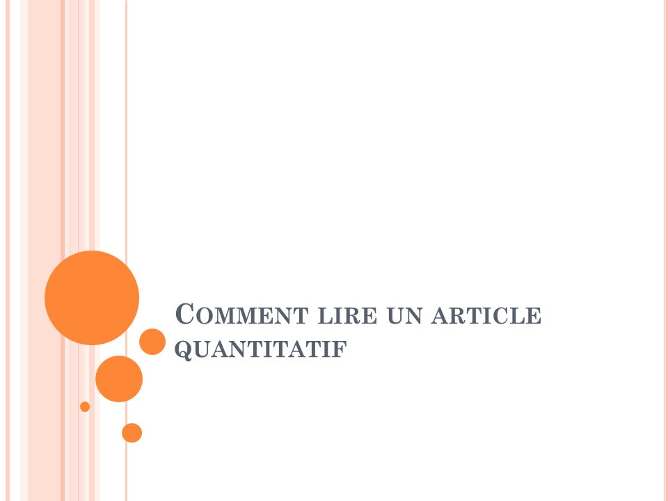 Comment lire un article quantitatif