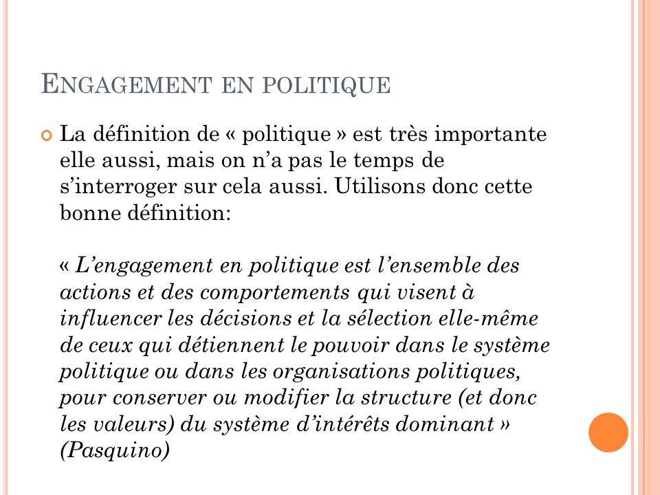 Engagement en politique