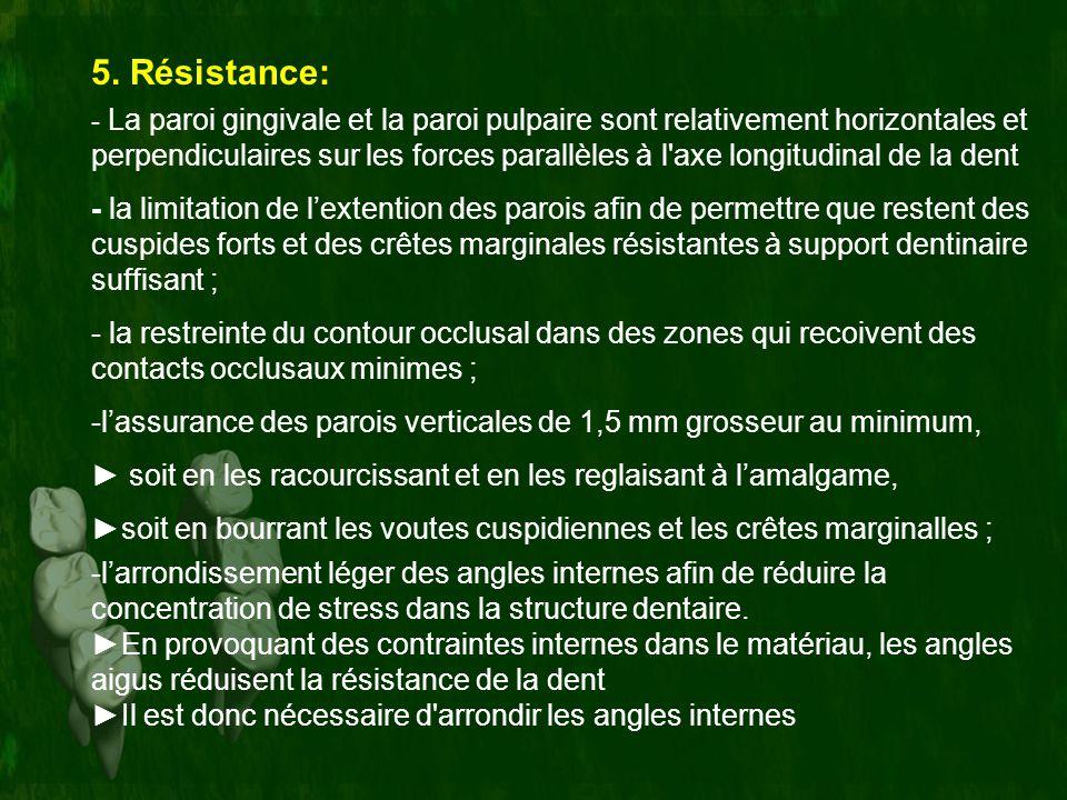 5. Résistance: