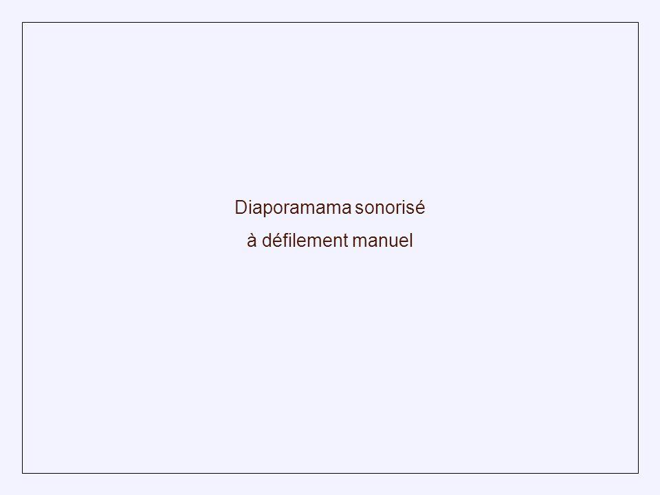 Diaporamama sonorisé à défilement manuel