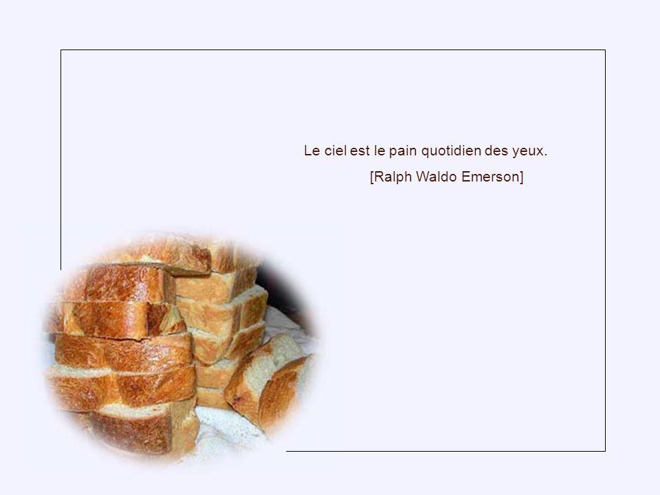 Le ciel est le pain quotidien des yeux.