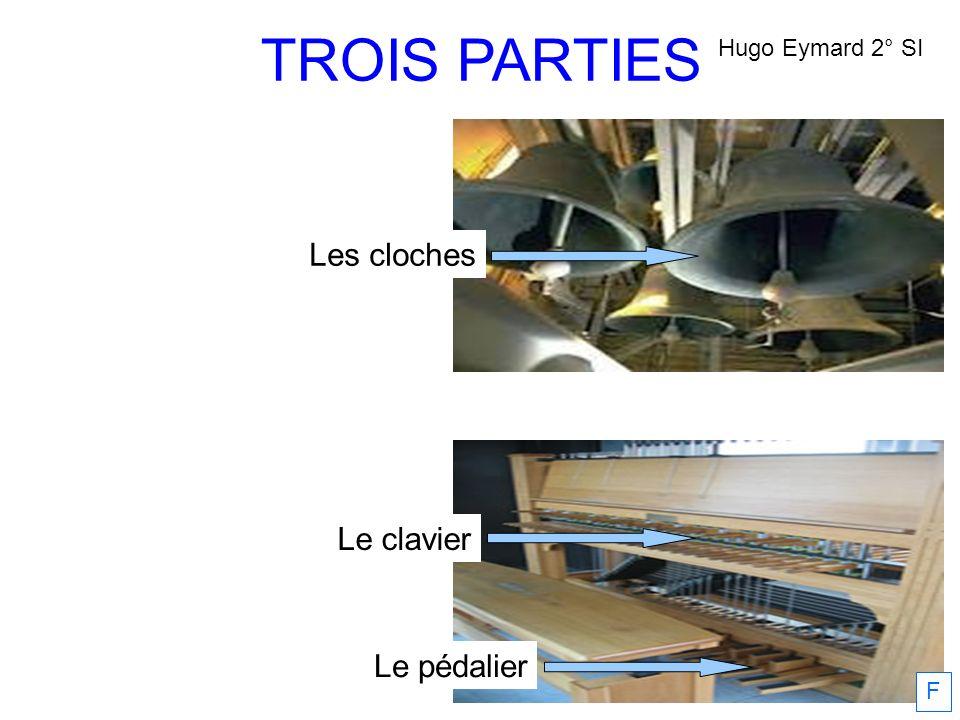 TROIS PARTIES Hugo Eymard 2° SI Les cloches Le clavier Le pédalier F