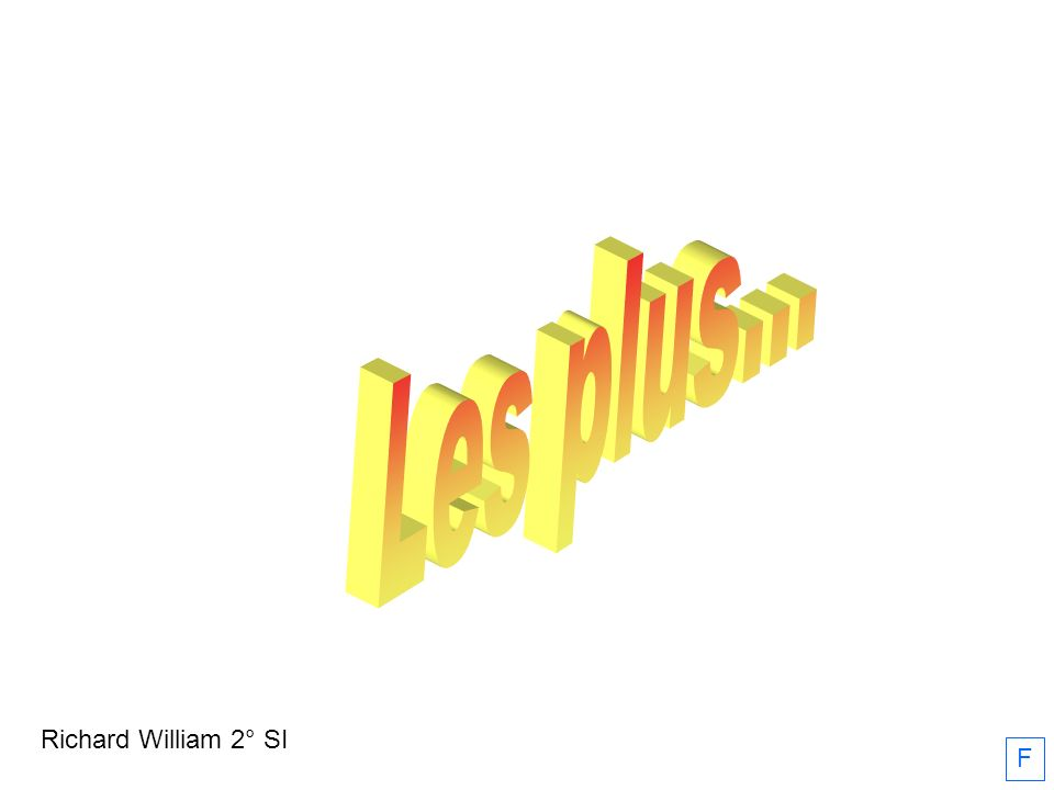 Les plus... Richard William 2° SI F