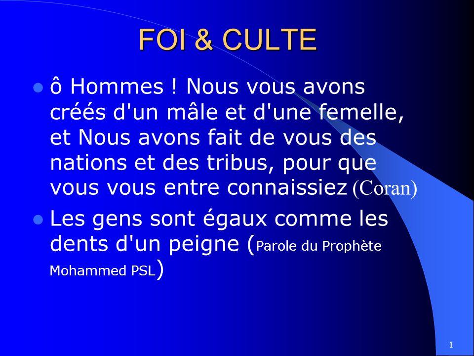 FOI & CULTE