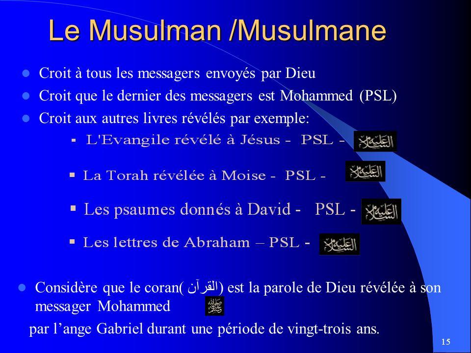 Le Musulman /Musulmane