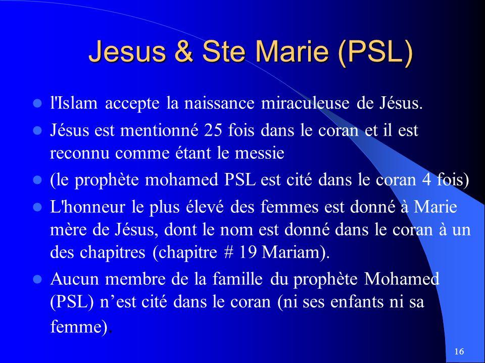 Jesus & Ste Marie (PSL) l Islam accepte la naissance miraculeuse de Jésus.