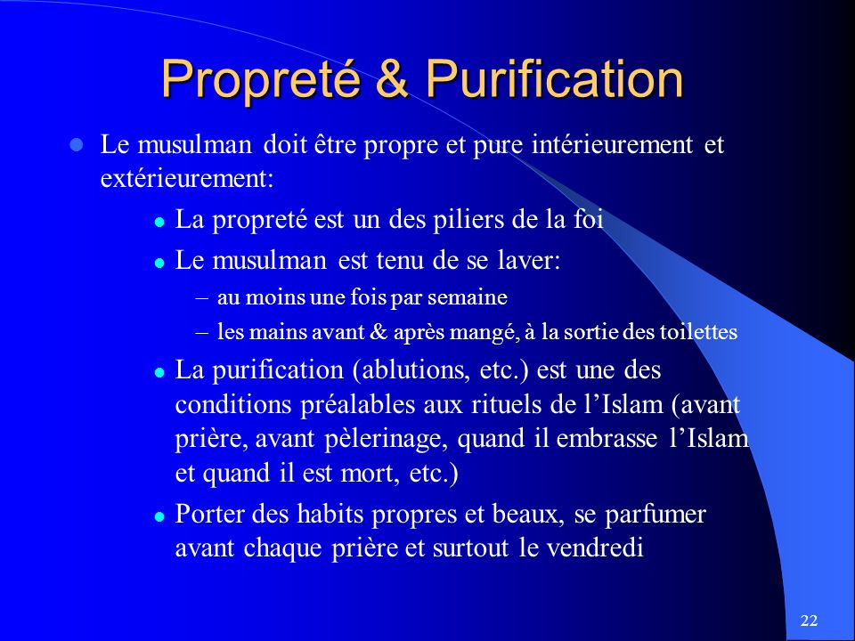 Propreté & Purification