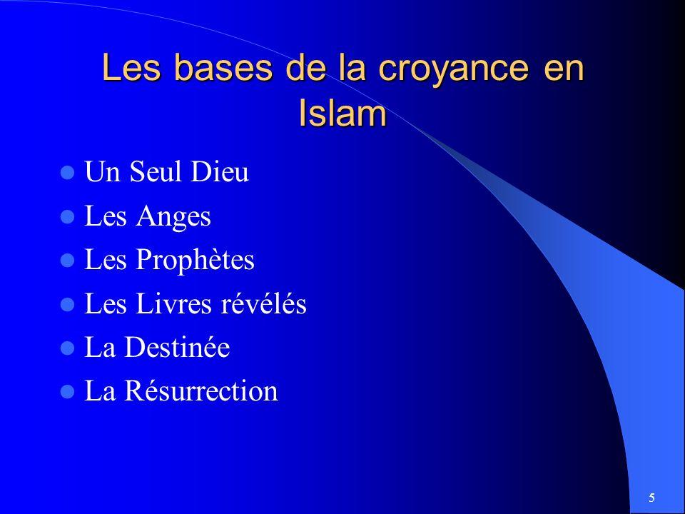 Les bases de la croyance en Islam