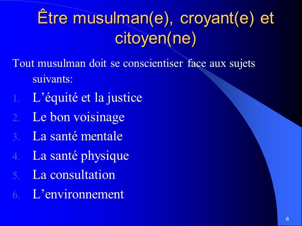 Être musulman(e), croyant(e) et citoyen(ne)