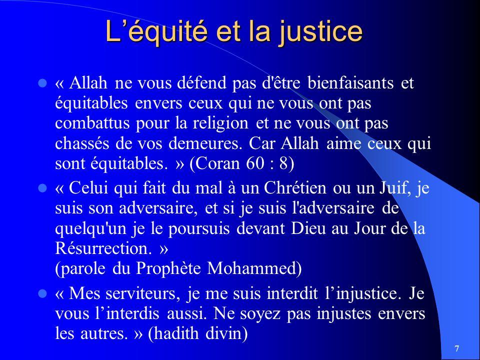 L'équité et la justice