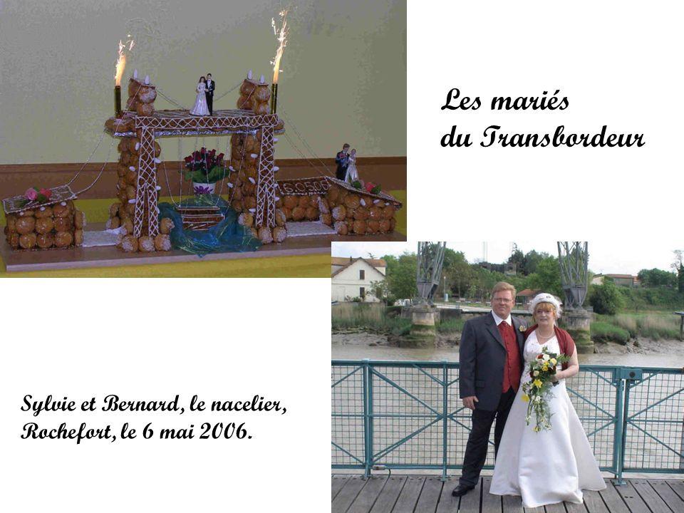 Les mariés du Transbordeur Sylvie et Bernard, le nacelier,