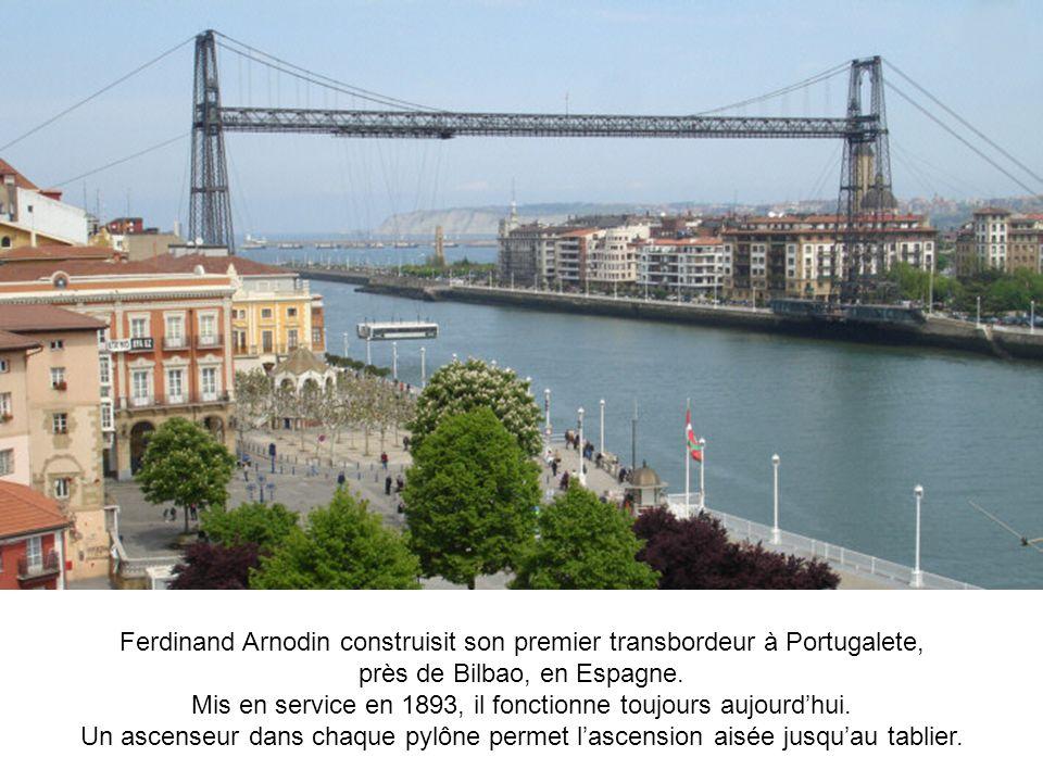 Ferdinand Arnodin construisit son premier transbordeur à Portugalete,