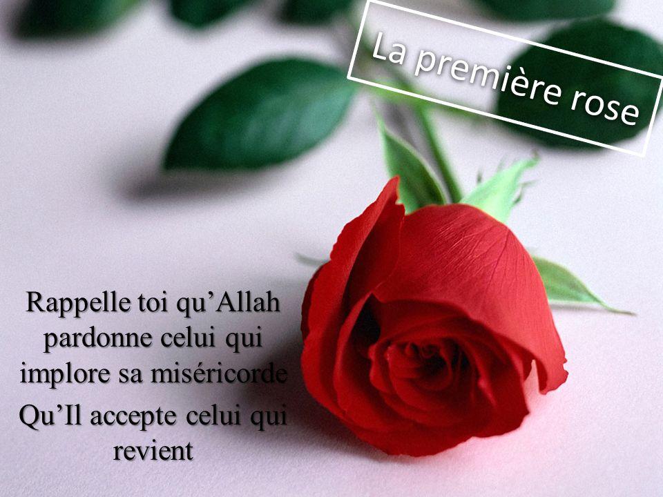 La première rose Rappelle toi qu'Allah pardonne celui qui implore sa miséricorde.