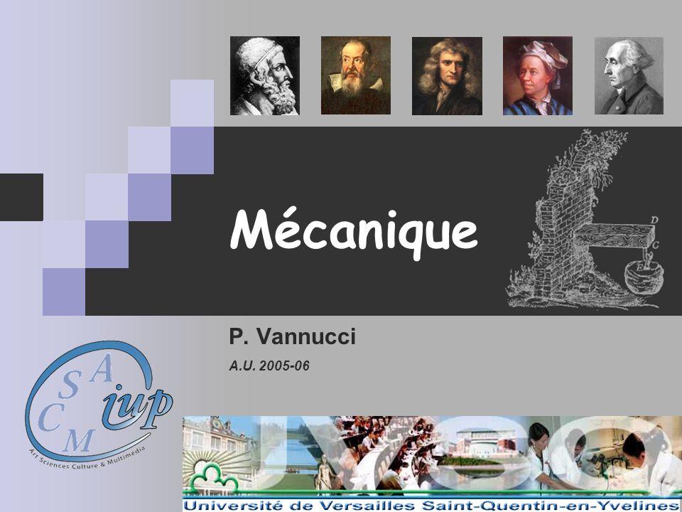 Mécanique P. Vannucci A.U. 2005-06