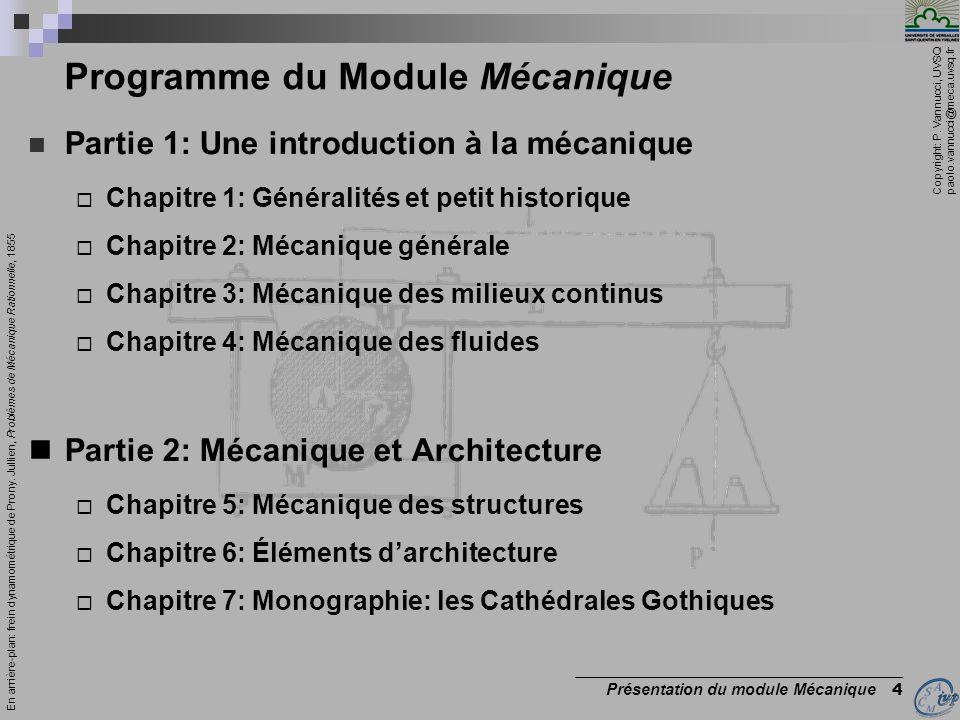 Programme du Module Mécanique
