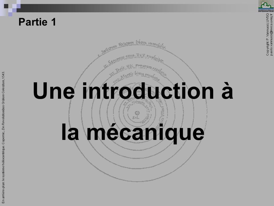 Une introduction à la mécanique