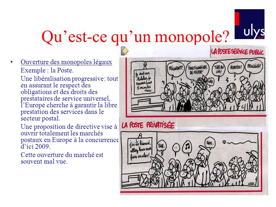 Qu'est-ce qu'un monopole