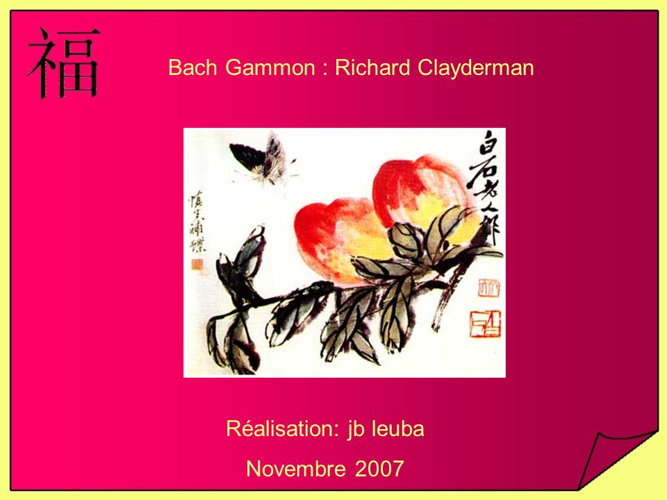 Bach Gammon : Richard Clayderman