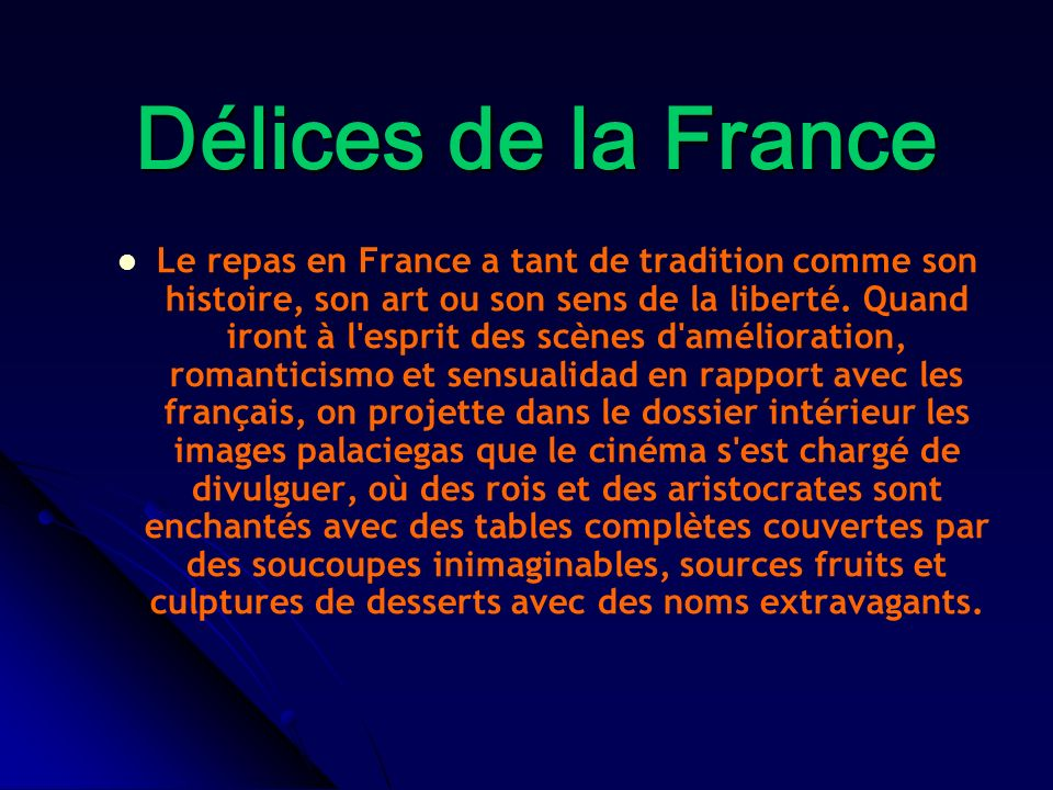 Délices de la France