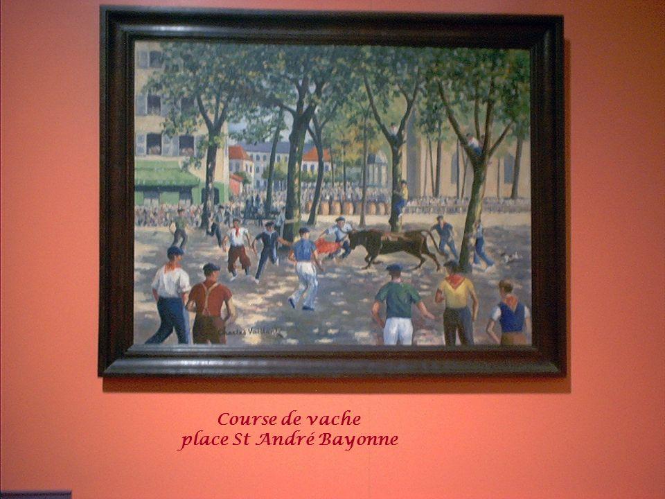 Course de vache place St André Bayonne