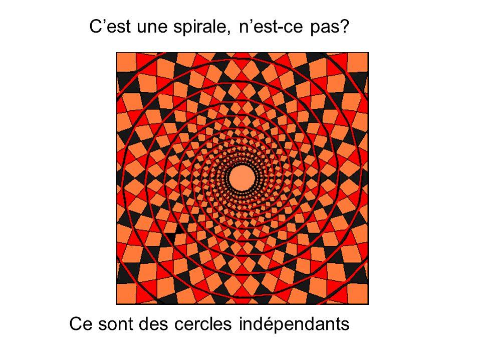 C'est une spirale, n'est-ce pas