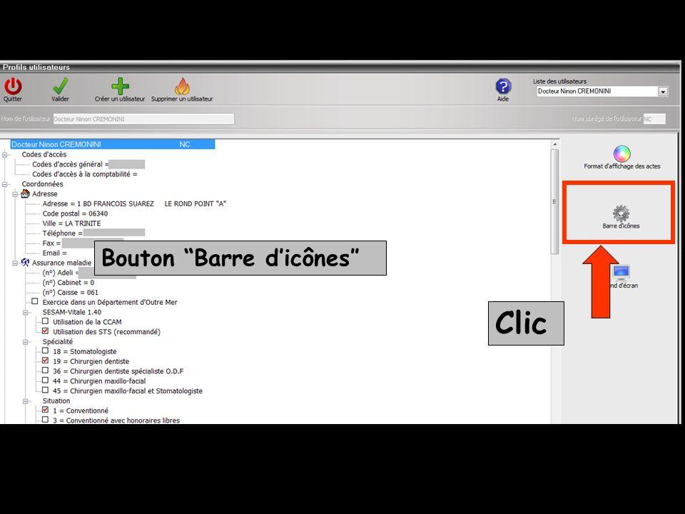 Bouton Barre d'icônes″