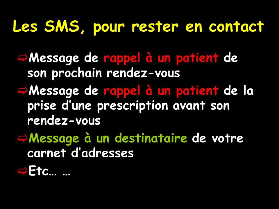 Les SMS, pour rester en contact