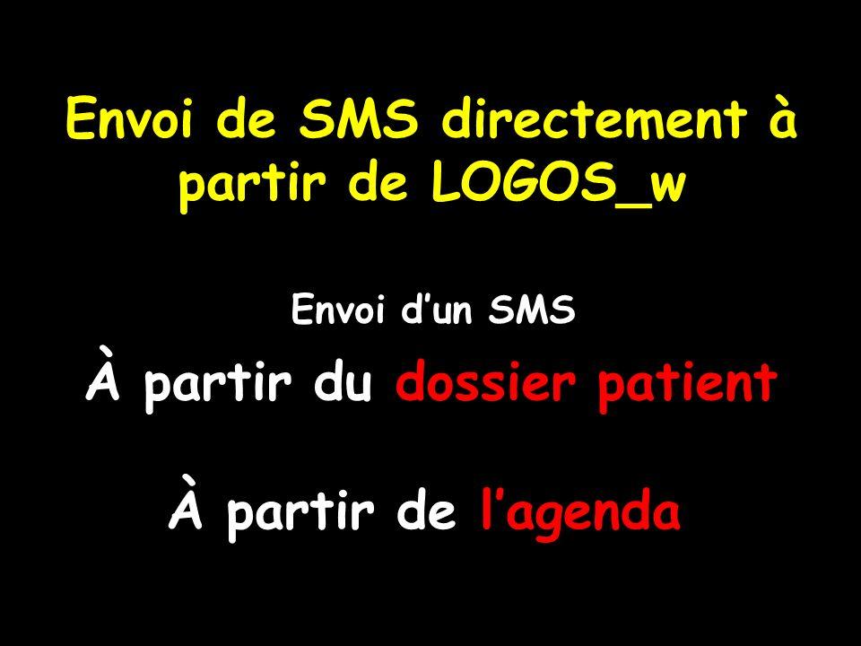 Envoi de SMS directement à partir de LOGOS_w