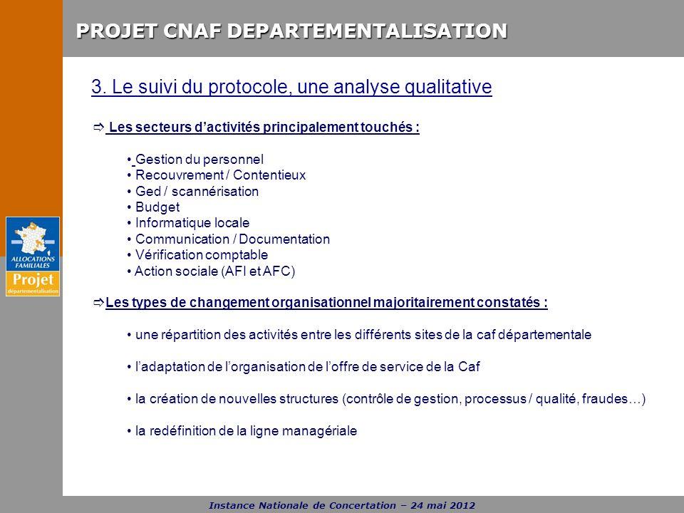 3. Le suivi du protocole, une analyse qualitative