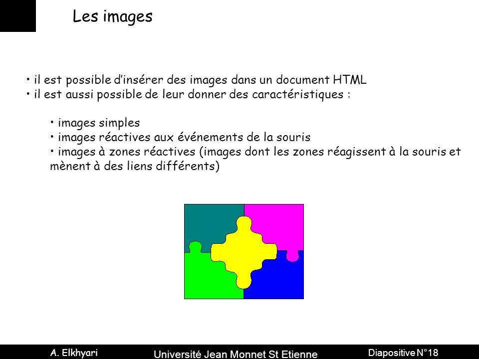 Les images il est possible d'insérer des images dans un document HTML