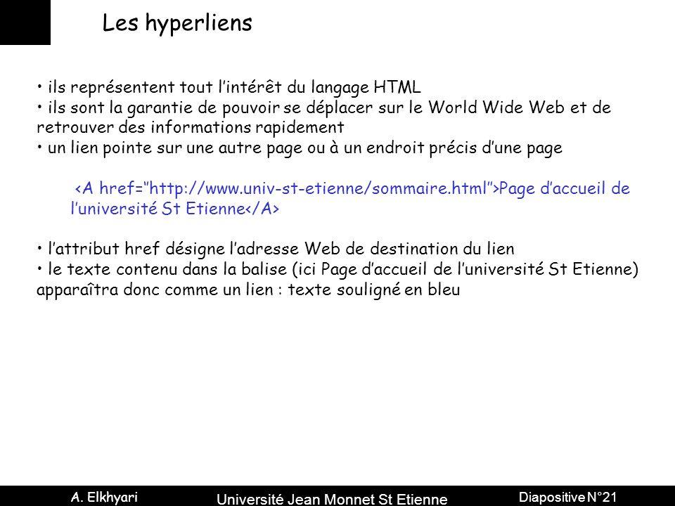 Les hyperliens ils représentent tout l'intérêt du langage HTML