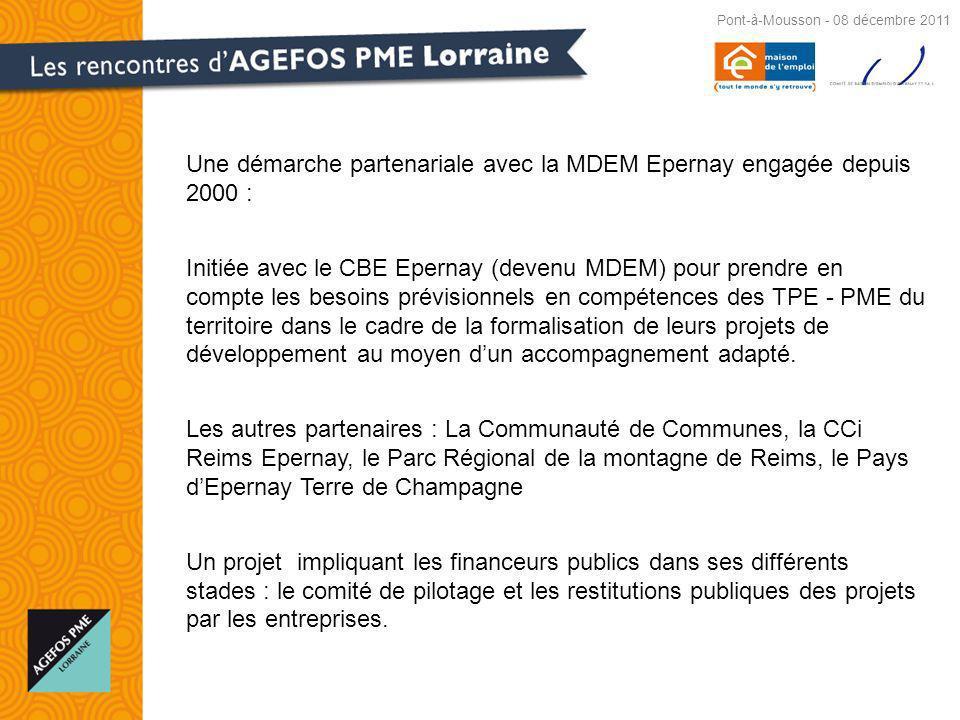 Une démarche partenariale avec la MDEM Epernay engagée depuis 2000 :