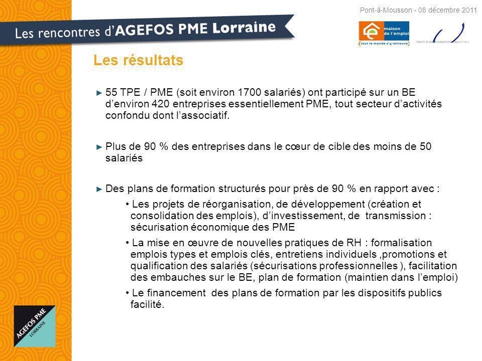 Les résultats Pont-à-Mousson - 08 décembre 2011